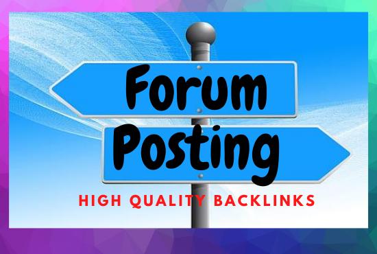 I will do 30 Forum posting with High DA/PA