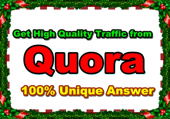 10 targeted website traffic with Quora Answer.