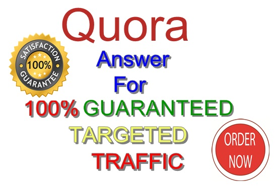 Niche relevant 10 High-Quality Quora answer for Targeted Traffic