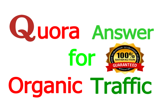 I will do niche relevant 2 High-Quality Quora Answers for Organic Traffic