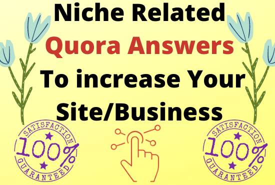 Guaranteed Traffic with 15 High Quality Quora Answers.