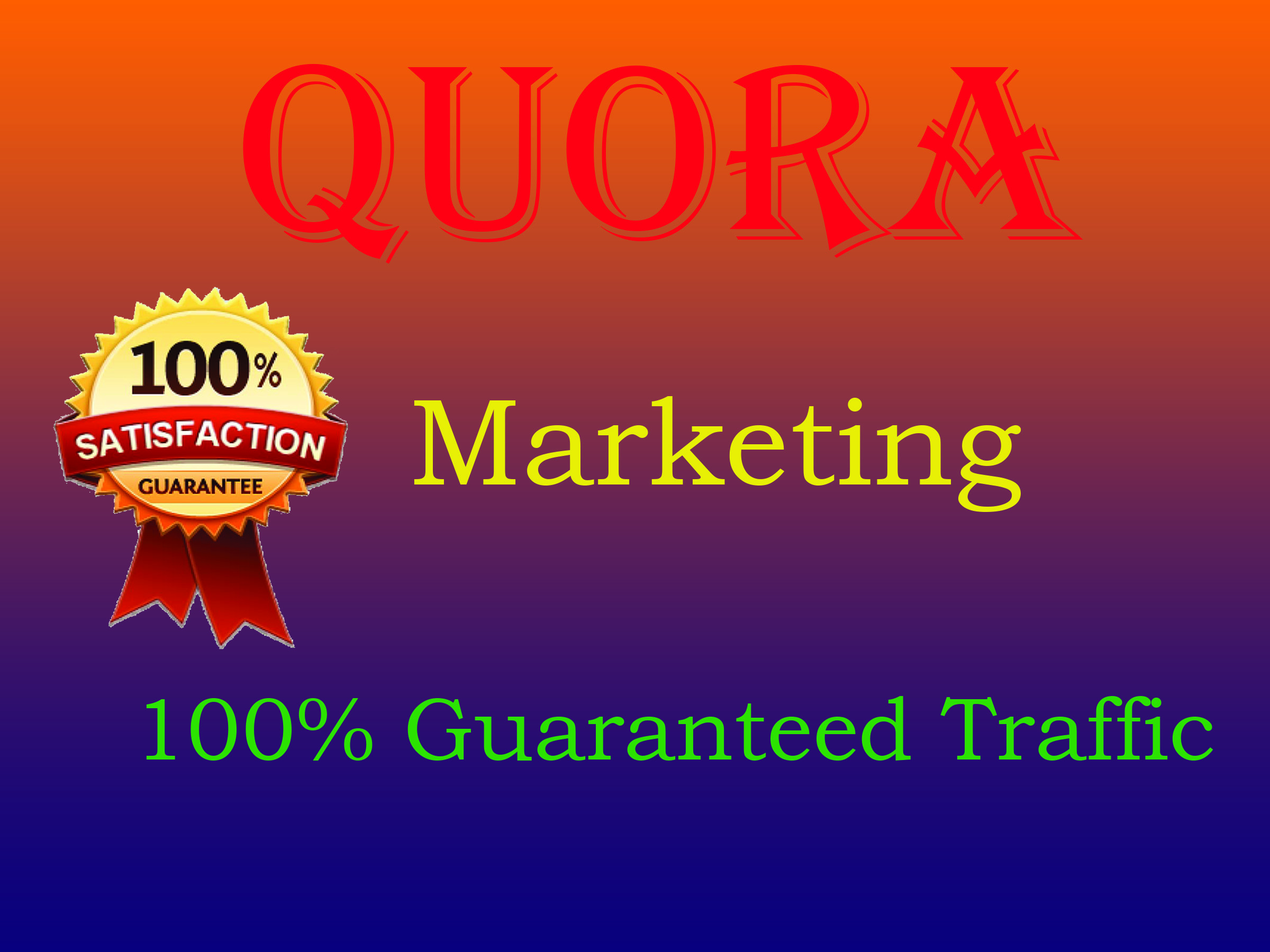 Provide 10 quora answers for guaranteed targeted traffic