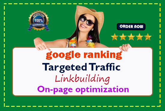 OFFER guaranteed google 1st page ranking with best linkbuilding service