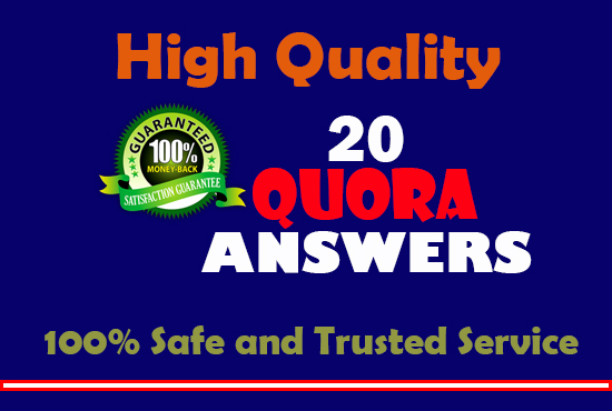 Get targeted traffic with 20 Authentic Quora Answers ...