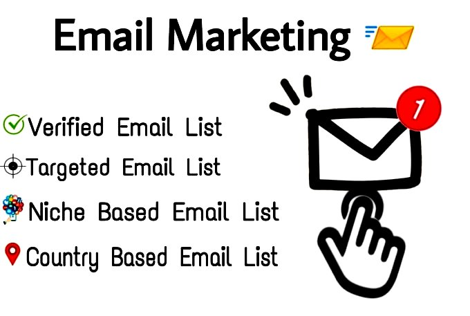 I will provide 1,000 Consumer email list for your business