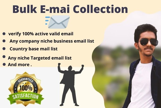 I will create a niche targeted email list,  Bulk email Collection And Lead Generation