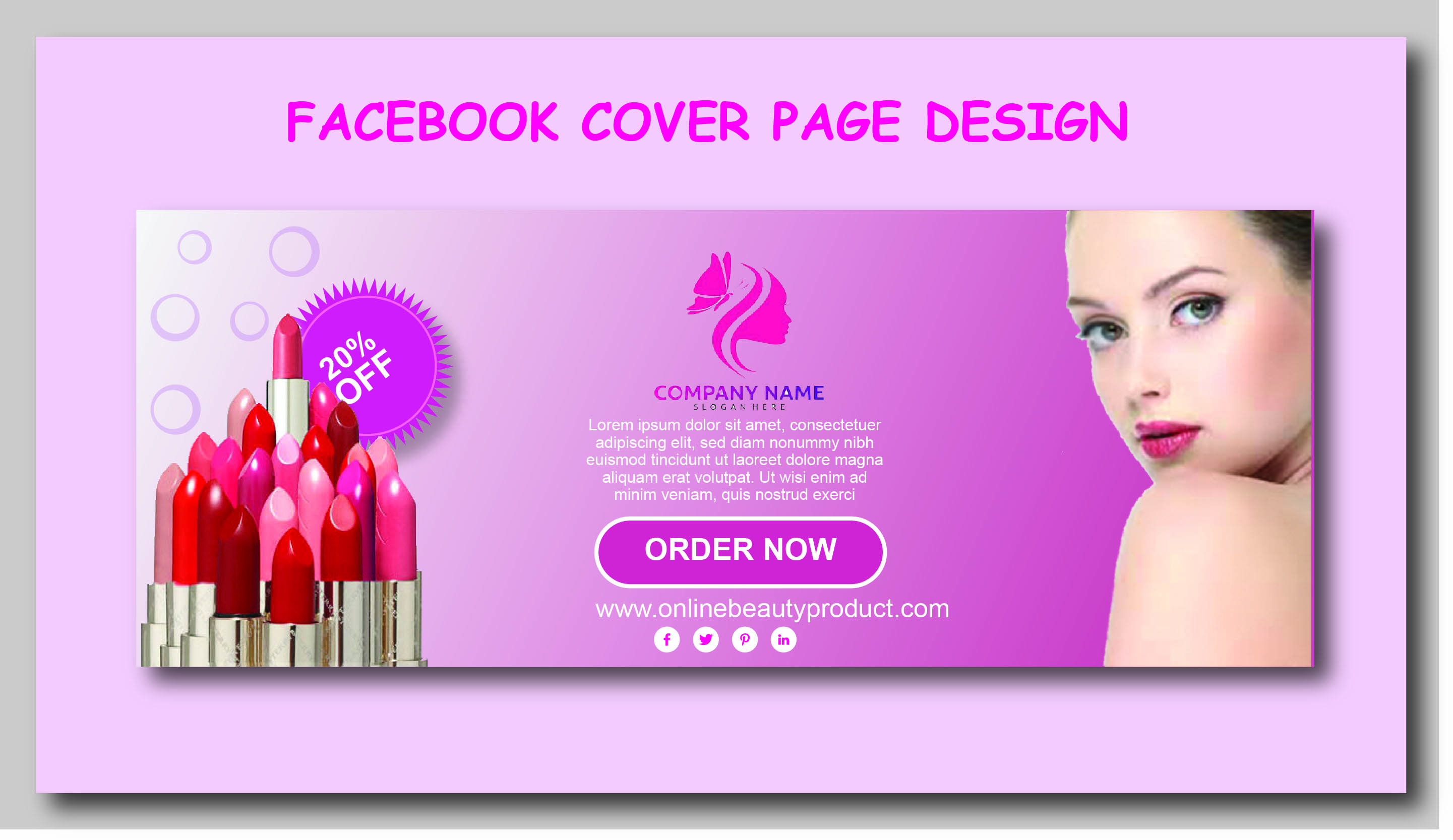 I will create professional facebook cover page design