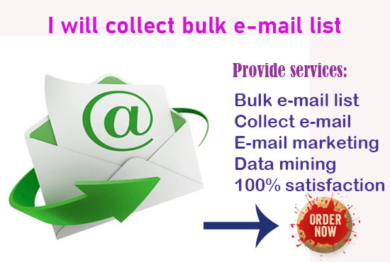 I will collect bulk email list