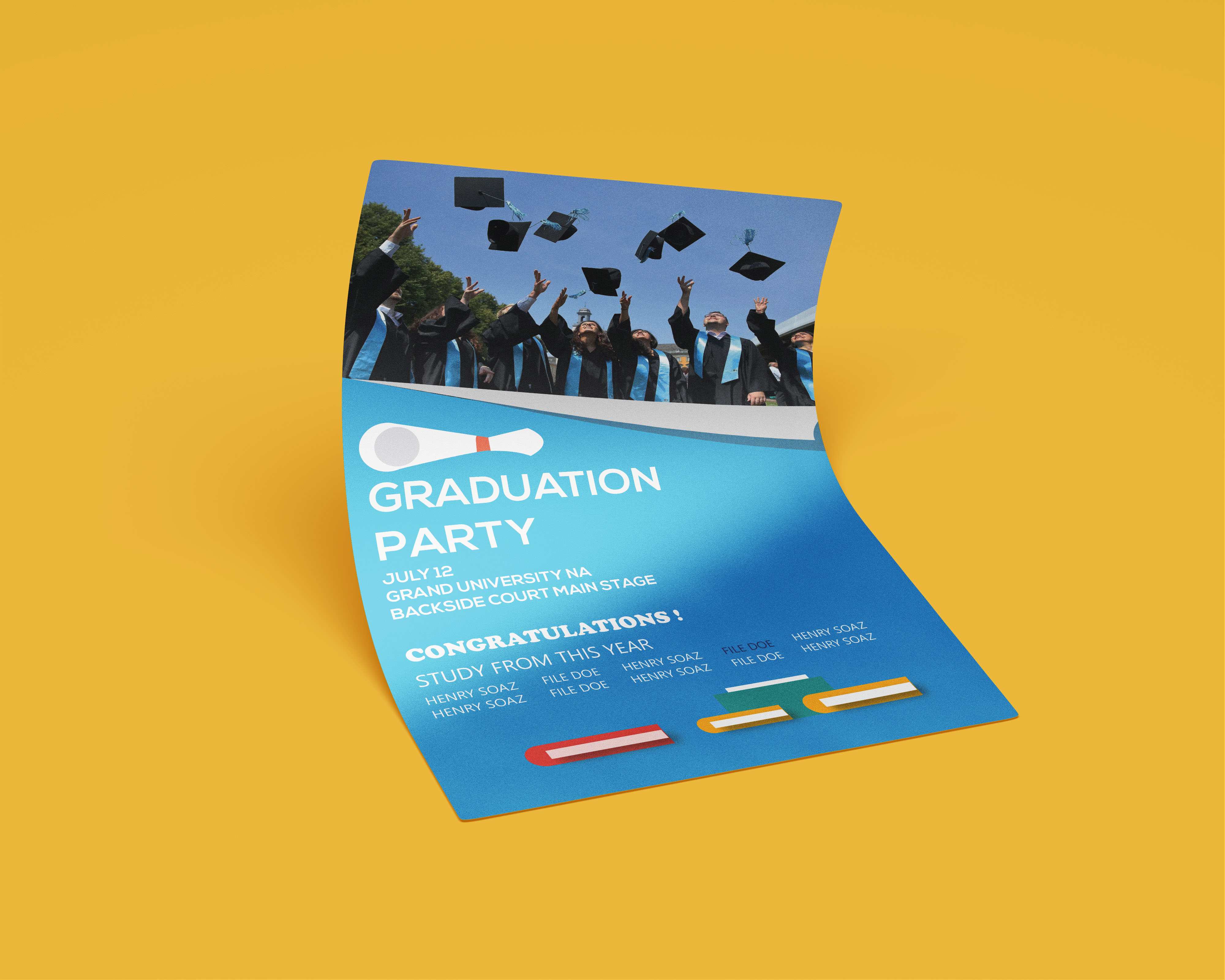 I will design all business,  company,  university poster,  flyer with in 1 day