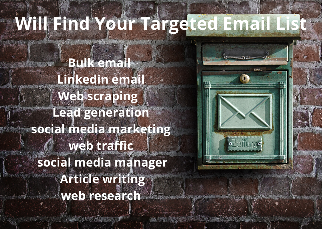 I will find your targeted email list