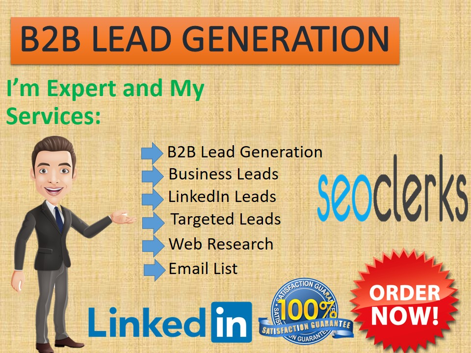I will collect targeted b2b lead generation and LinkedIn lead generation