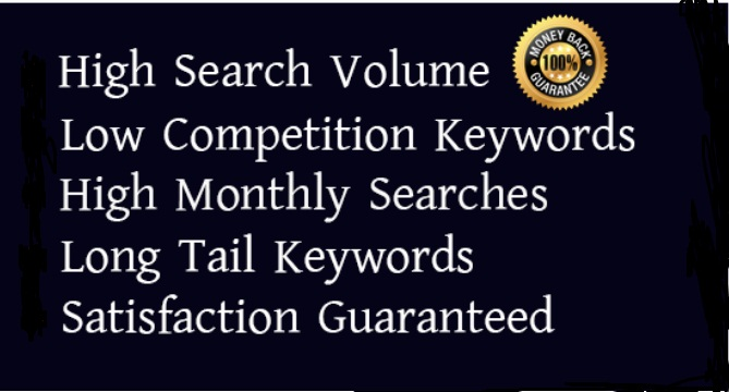 I will provide SEO keyword research for your targeted niche.