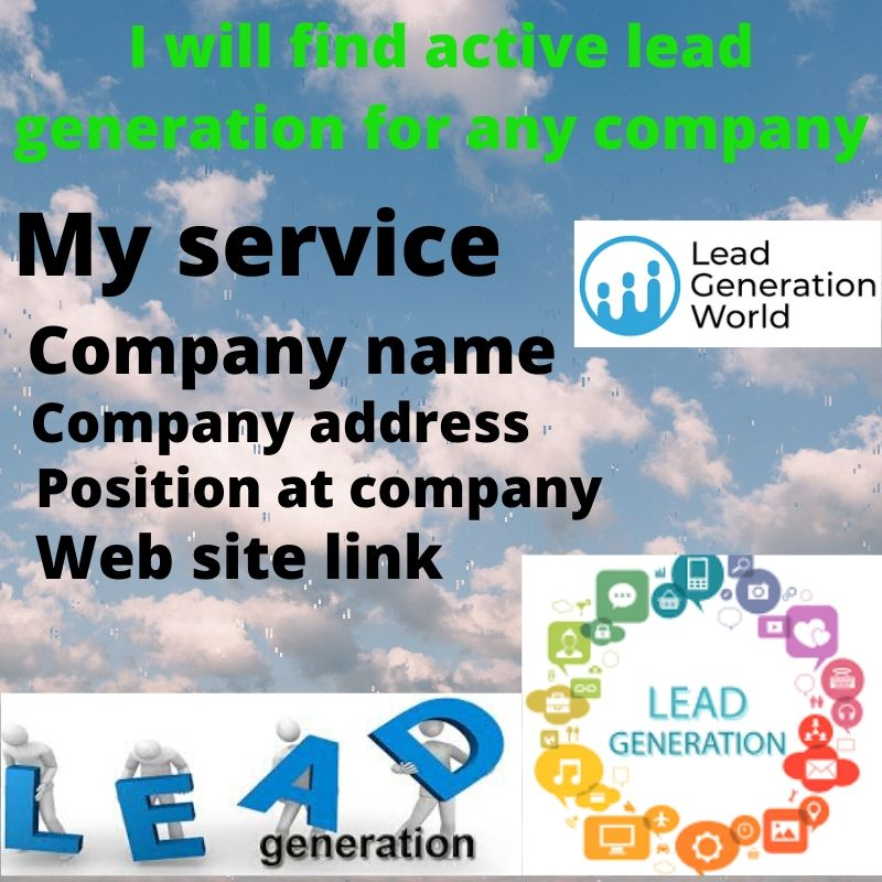 I will find active lead generation for any company