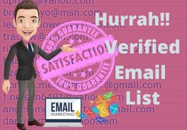 I will give you 30000 verified email list