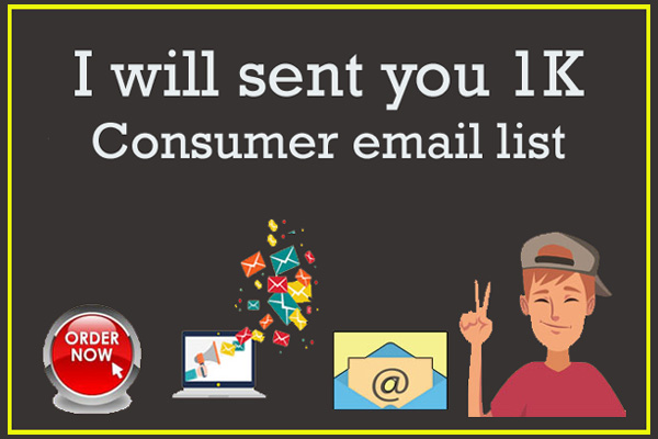 I will sent you 1K Consumer Email List