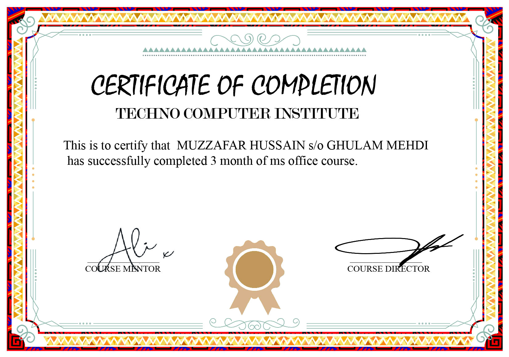 i can create a high resolution Academic or any type of Certificate for you in a professional way