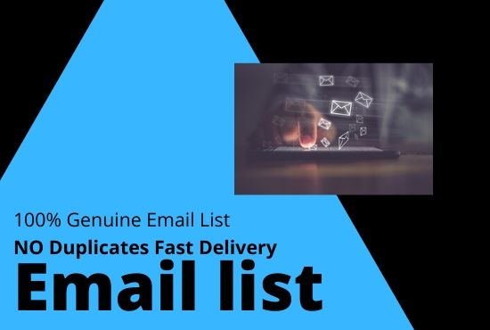I will Create a Niche Targeted Email List for Your Email Marketing