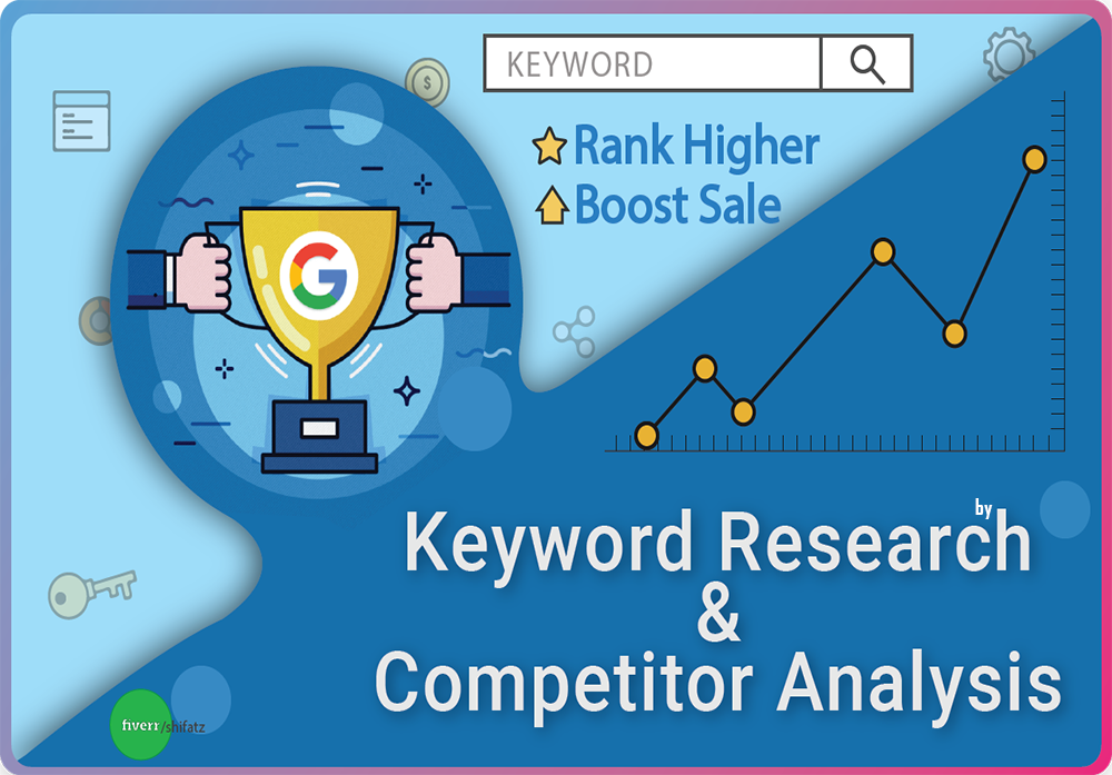 I will do 100 Focus keyword research and top 5 competitor analysis