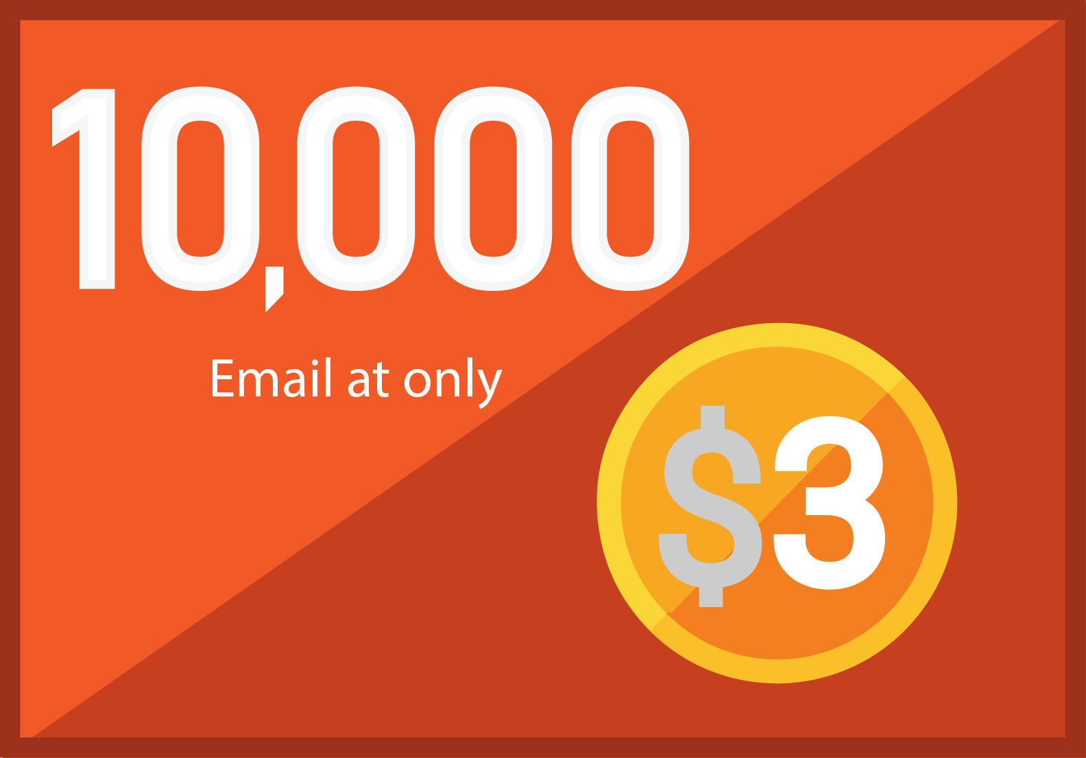 10,000 niche targeted Bulk email collection