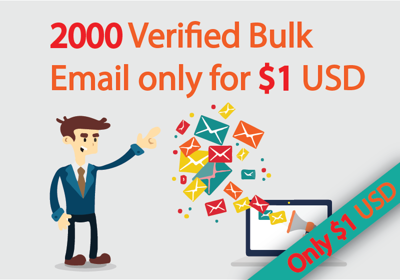 2,000 targeted Bulk email collection
