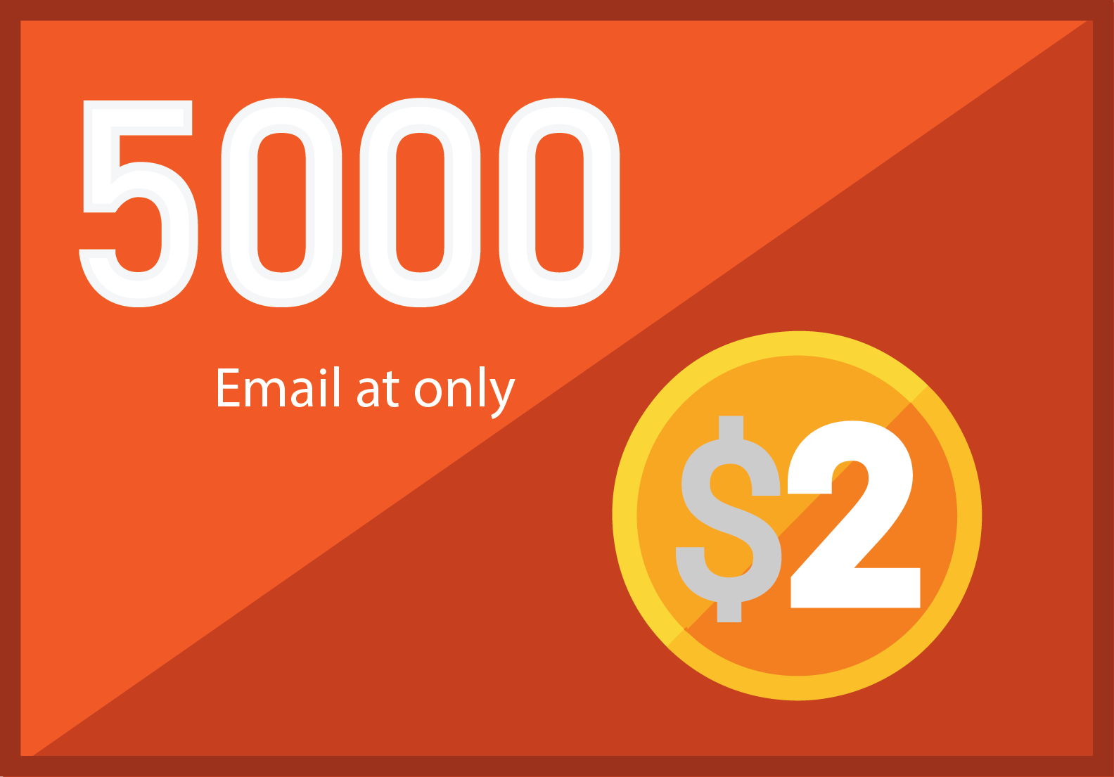 5,000 niche targeted Bulk email collection