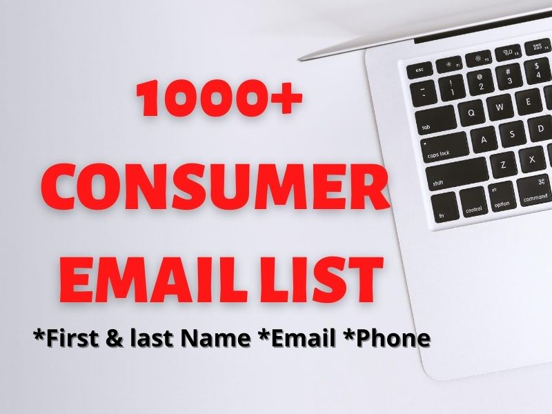I will provide you 1000+ targeted consumer email list