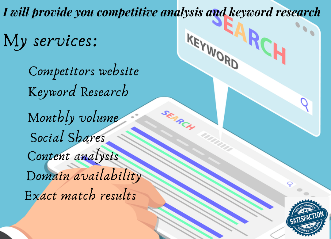 I will do efficient keyword research and competitor analysis