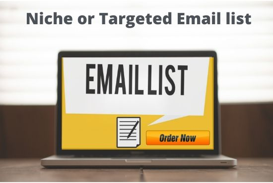 I will provide your targeted email list for your email marketing.