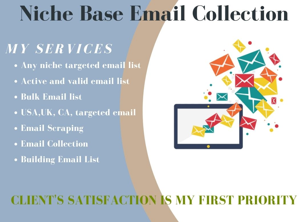 I Will Provide 10000 Niche Base Targeted Email List