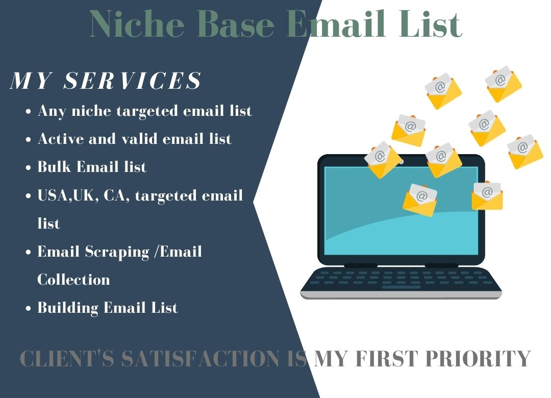 I Will Provide 2000 Niche Base Targeted Email List