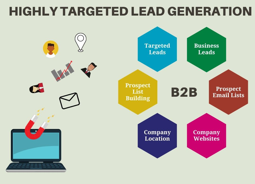 I will do 100 b2b lead generation and targeted email list building