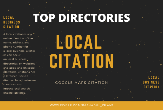 I will do 150 google maps citation for local business SEO