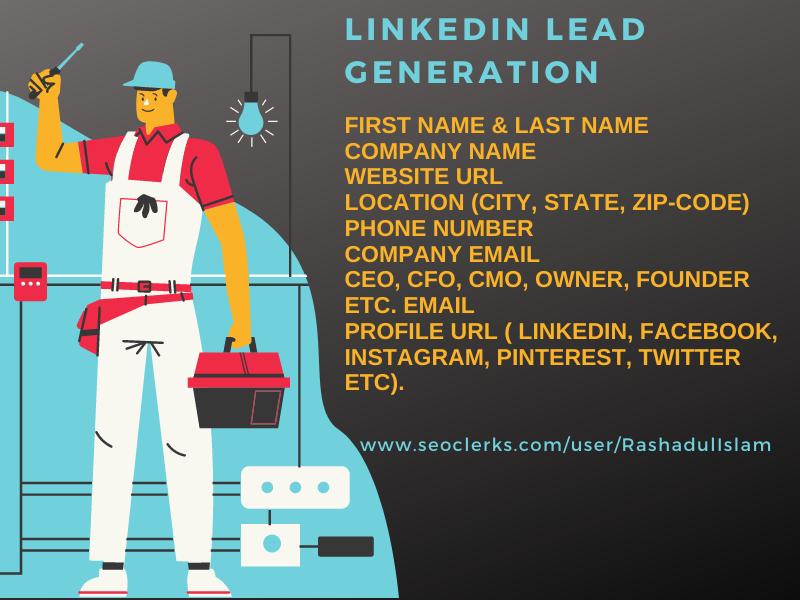 I will do targeted linkedin lead generation,  b2b lead generation