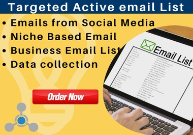 I will provide 2000 targeted active bulk email list