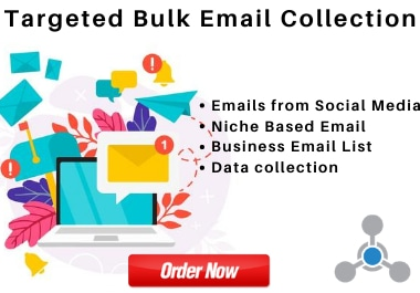 I will provide 4000 targeted active bulk email collection