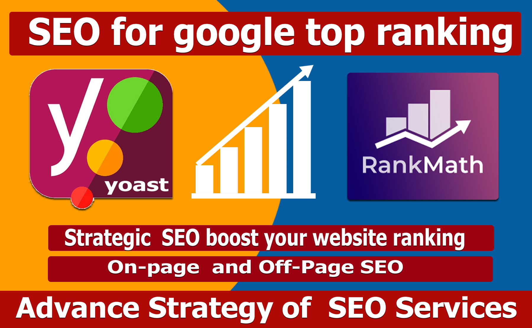 I will provide seo service for your website ranking on google top