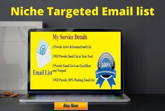 I will do niche targeted email collection for email marketing