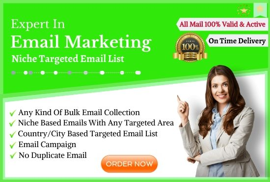 I will provide you niche targeted email list to boost up your business