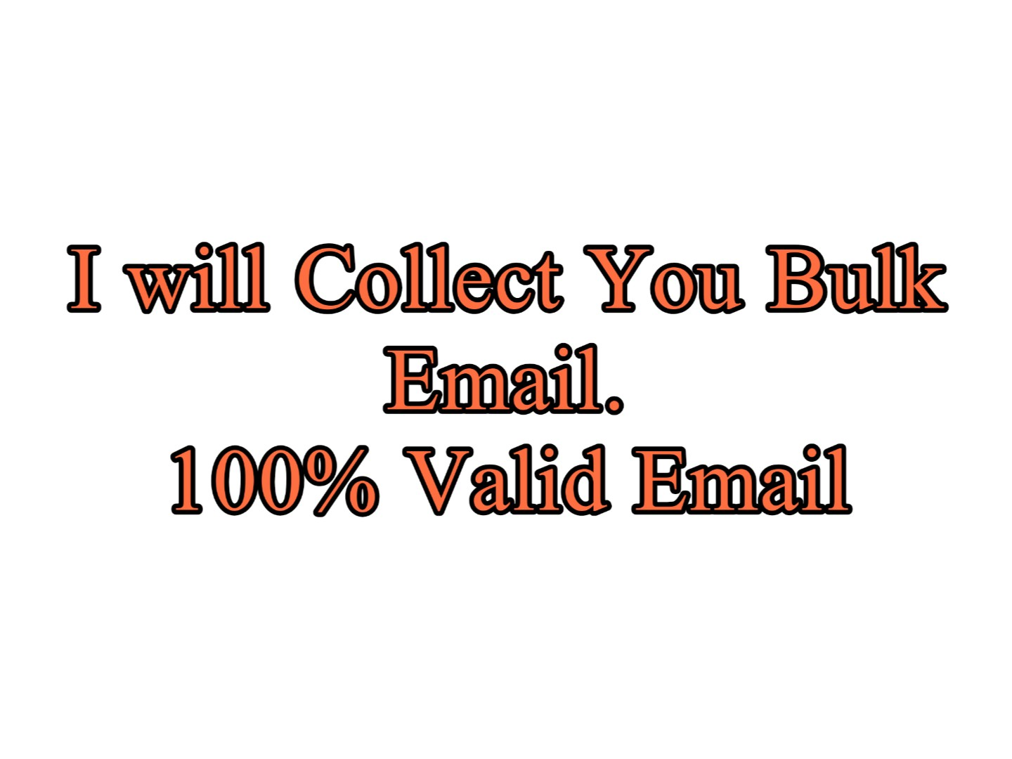 I will collect niche targeted 2k bulk email