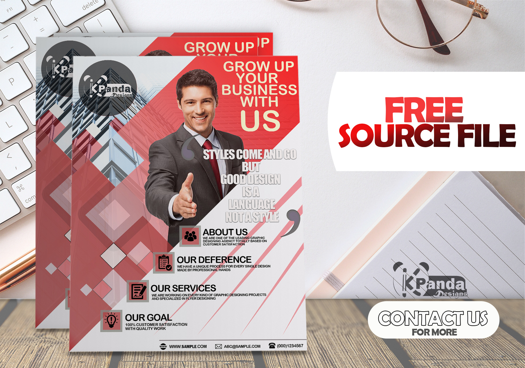 Attractive,  Professional flyer design for your business