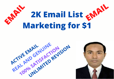 Active, Real and genuine USA Email list Marketing