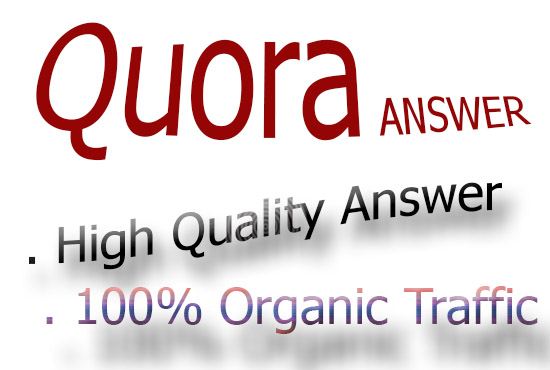 30 Quora answer and Get targeted Traffic