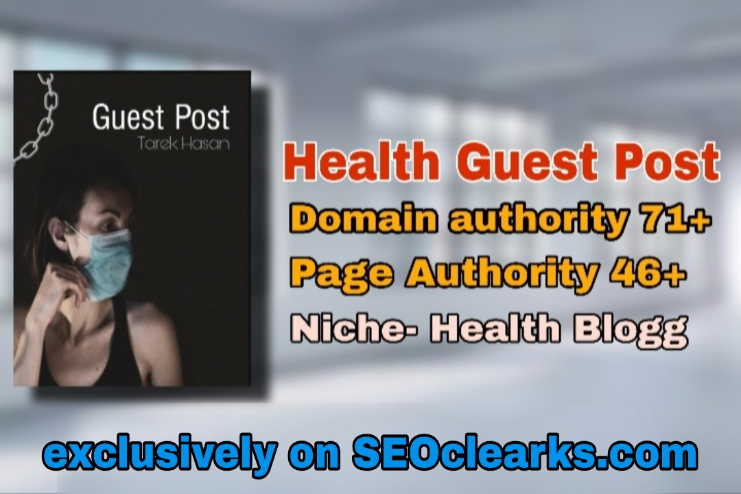 I will write and publish article in high da usa ranked health blogsite.
