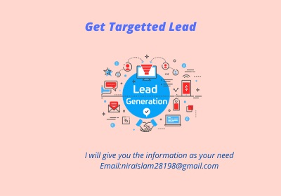 Get targeted lead for your bussiness.