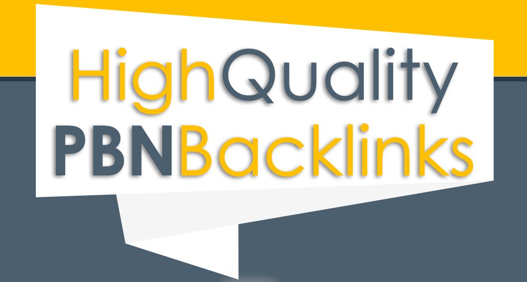 I will do high quality pbn backlinks SEO service