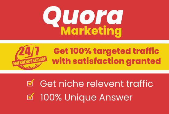 Provide niche relevant 30 High quality unique Quora answer backlinks. Trusted marketing