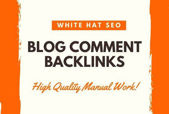 I will make high quality backlinks using 25 blog comments