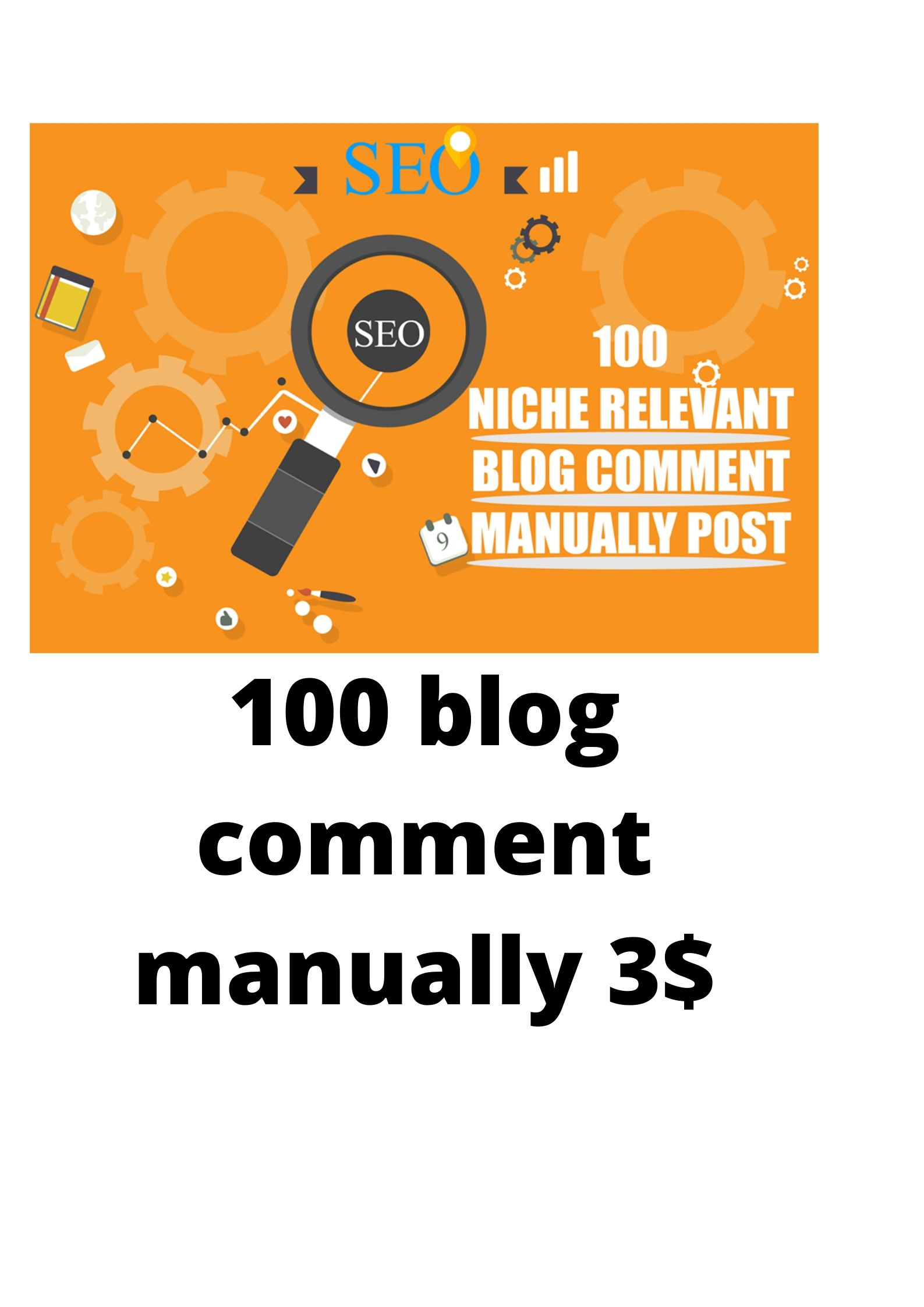 100 Blog Comment Done By Manually