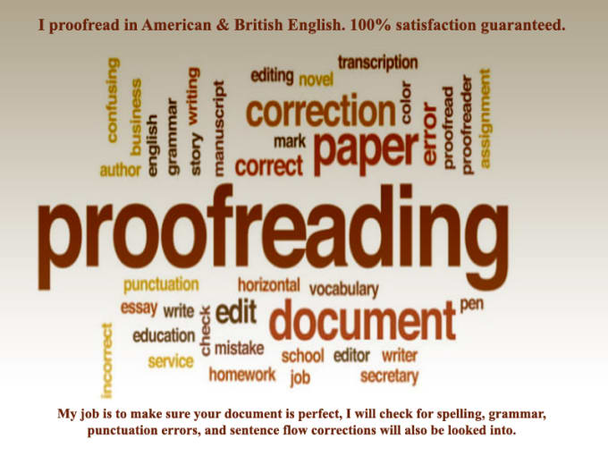 Make your text flawless by getting it proofread by a professional and experienced proofreader