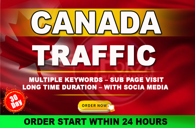 I will drive 10000 niche target CANADA website traffic to Link web shop product